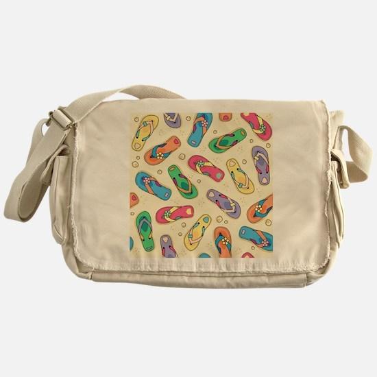 Colorful Flip Flops Messenger Bag