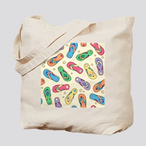 Colorful Flip Flops Tote Bag