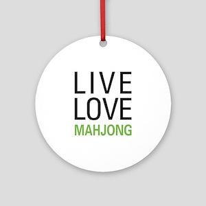 Live Love Mahjong Ornament (Round)