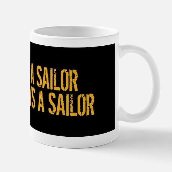 U.S. Navy: Once a Sailor, Always a Sail Mug