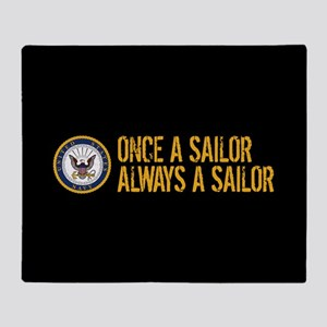 U.S. Navy: Once a Sailor, Always a S Throw Blanket