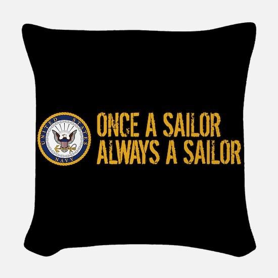 U.S. Navy: Once a Sailor, Alwa Woven Throw Pillow