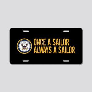 U.S. Navy: Once a Sailor, A Aluminum License Plate