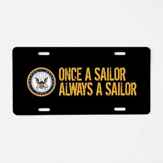 U.S. Navy: Once a Sailor, A Aluminum License Plate
