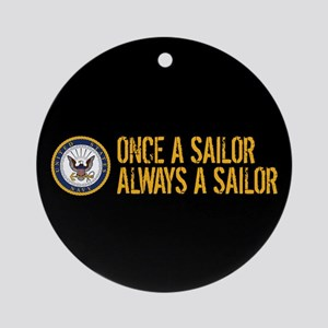 U.S. Navy: Once a Sailor, Always a Round Ornament