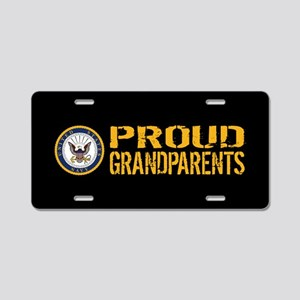 U.S. Navy: Proud Grandparen Aluminum License Plate