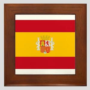 Spanish Republic Flag - Bandera de la Framed Tile