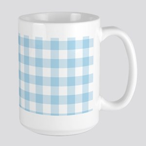 Baby Blue Gingham Checked Pattern Mugs