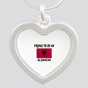 Proud To Be Albanian Silver Heart Necklace