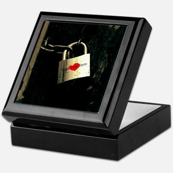 Personalized - Love Lock * Keepsake Box