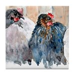 Chickens #2 Tile Coaster