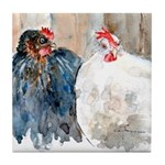 chickens #1 Tile Coaster
