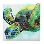 Sea Turtle #10 Tile Coaster