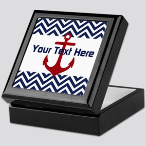 Personalized Anchored Waves * Keepsake Box