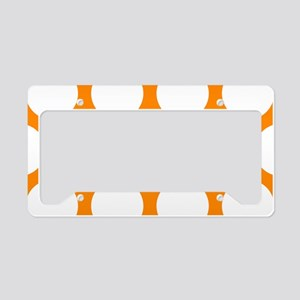 Orange: Polka Dots Pattern (L License Plate Holder