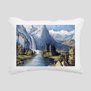 vintage native american Rectangular Canvas Pillow