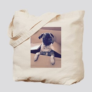 Pugsley The Pug Puppy In A Box Tote Bag