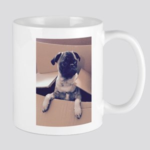 Pugsley The Pug Puppy In A Box Mugs