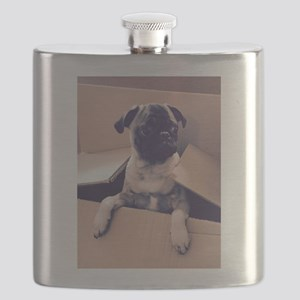 Pugsley The Pug Puppy In A Box Flask
