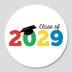 Class of 2029 Round Car Magnet