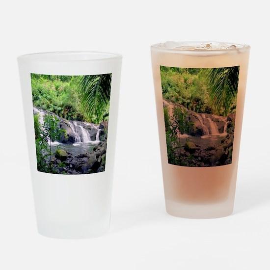 Hahalawe Falls Maui Drinking Glass