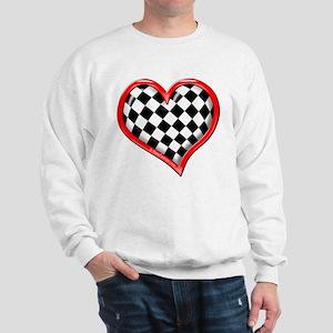 Checkered Heart Red Sweatshirt