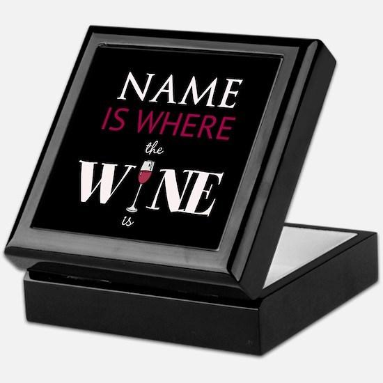 Personalized - Wine* Keepsake Box
