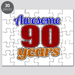 Awesome 90 Years Birthday Puzzle