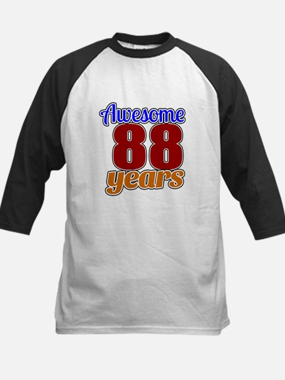 Awesome 88 Years Birthday Kids Baseball Jersey