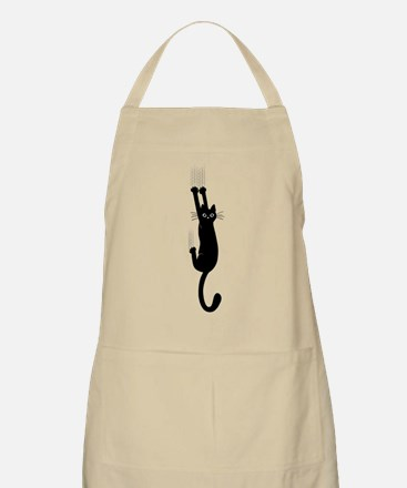 Black Cat Hanging On Apron