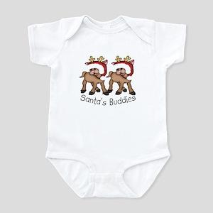 Santa's Little Buddies TWINS Infant Bodysuit