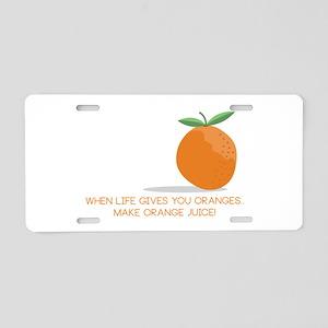 Orange Juice Aluminum License Plate