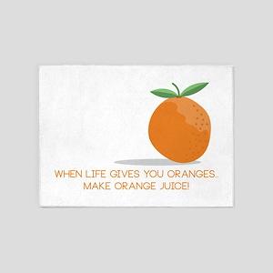 Orange Juice 5'x7'Area Rug