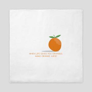 Orange Juice Queen Duvet