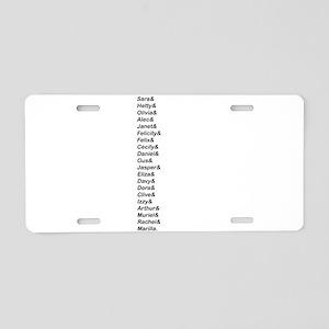 Avonlea Names Aluminum License Plate