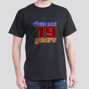 Awesome 19 Years Birthday Dark T-Shirt