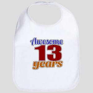 Awesome 13 Years Birthday Bib
