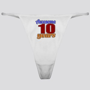 Awesome 10 Years Birthday Classic Thong