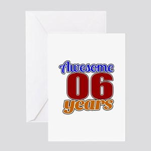 Awesome 06 Years Birthday Greeting Card