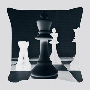 Master Chess Piece Woven Throw Pillow