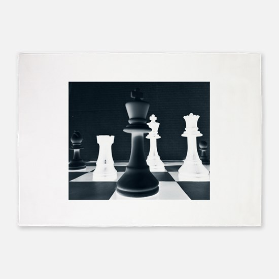 Master Chess Piece 5'x7'Area Rug