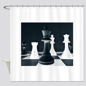 Master Chess Piece Shower Curtain