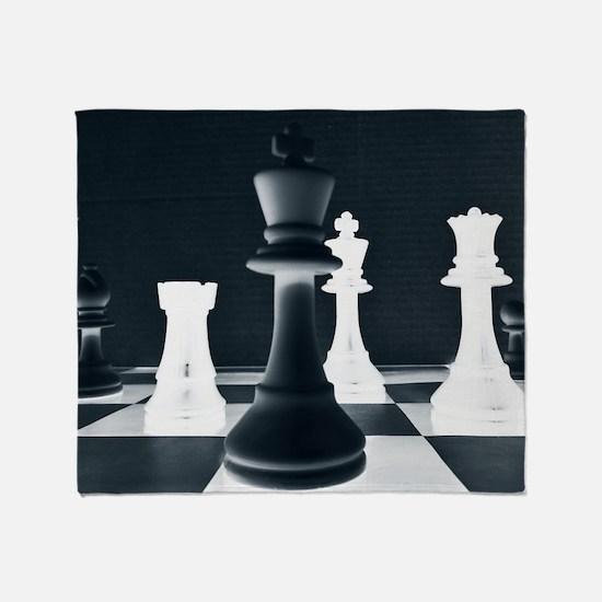 Master Chess Piece Throw Blanket