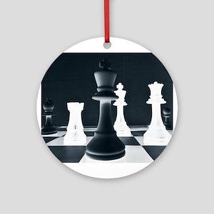 Master Chess Piece Round Ornament