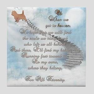 Doggie Heaven Tile Coaster