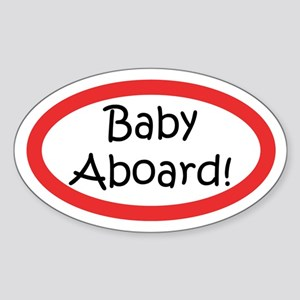 Baby Aboard Oval Sticker