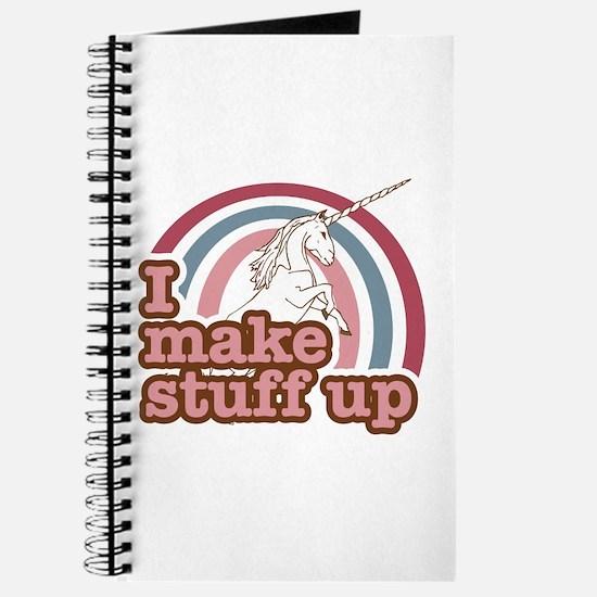I make stuff up unicorn Journal