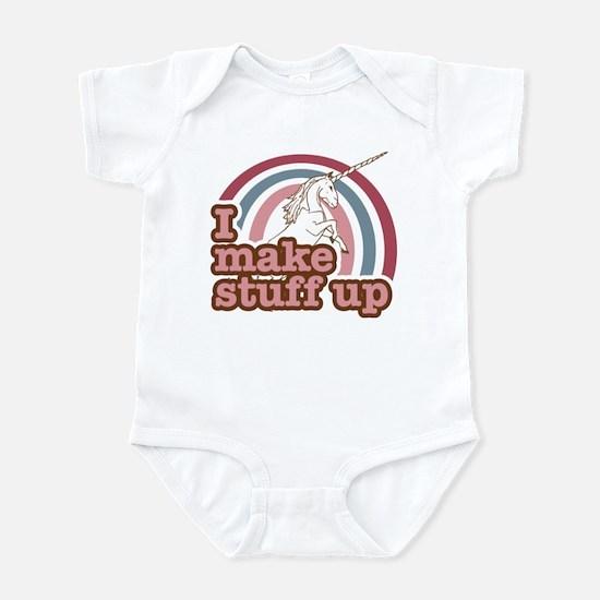 I make stuff up unicorn Infant Bodysuit