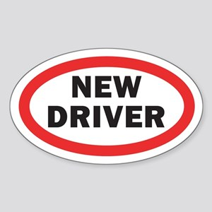 New Driver Oval Sticker