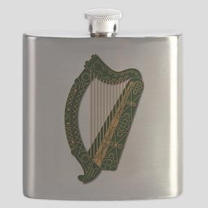Harp - Ireland Coat Of Arms - 2 Flask